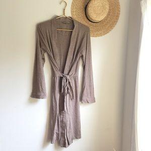 Victoria's Secret tan brown knit robe